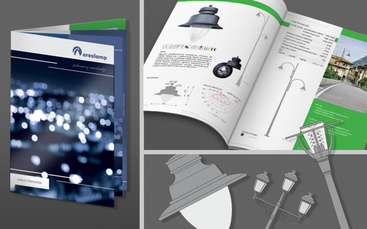 MVIZUAL agencja reklamowa olsztyn katalogi katalog projekt arealamp