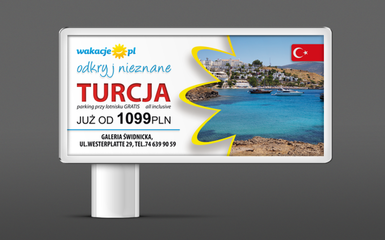 agencja reklamowa olsztyn MVIZUAL reklama billboard banery projekt billboardu wakacje