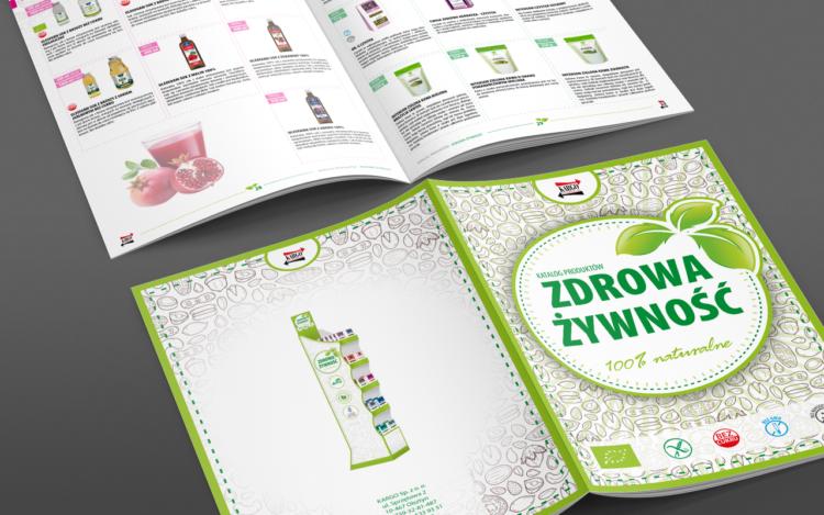 agencja reklamowa olsztyn MVIZUAL reklama projekt katalogu zdrowa żywność a4 2016