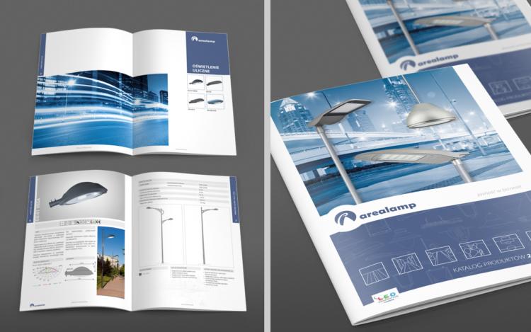 agencja reklamowa olsztyn MVIZUAL reklama katalogi publikacja arealamp projekt katalogu 2016