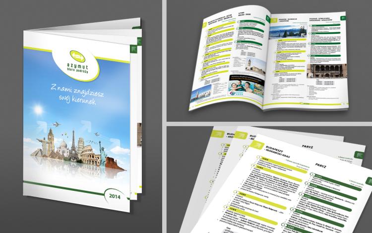 MVIZUAL agencja reklamowa olsztyn katalogi publikacje projekt katalogu biura azytmut biuro podróży