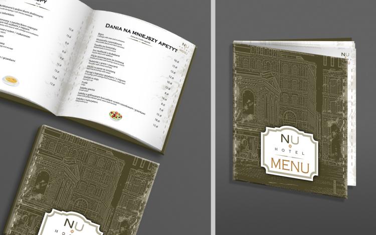 MVIZUAL agencja reklamowa olsztyn katalogi publikacje projekt menu nu hotel