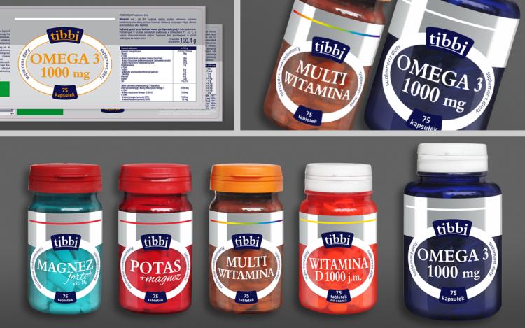 agencja reklamowa olsztyn MVIZUAL reklama projekt opakowania etykiety tibbi suplementy diety