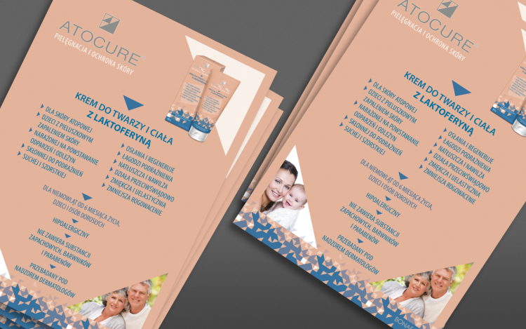 agencja reklamowa olsztyn MVIZUAL reklama plakaty projekt plakatu poster atocure