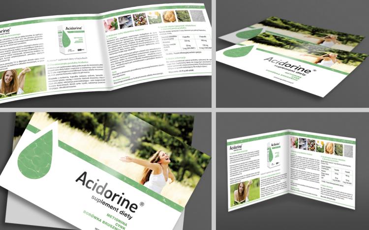 MVIZUAL agencja reklamowa olsztyn ulotki foldery ulotka składana acidorine 2015