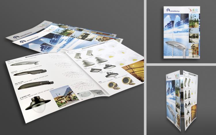 MVIZUAL agencja reklamowa olsztyn ulotki foldery ulotka składana arealamp 2015