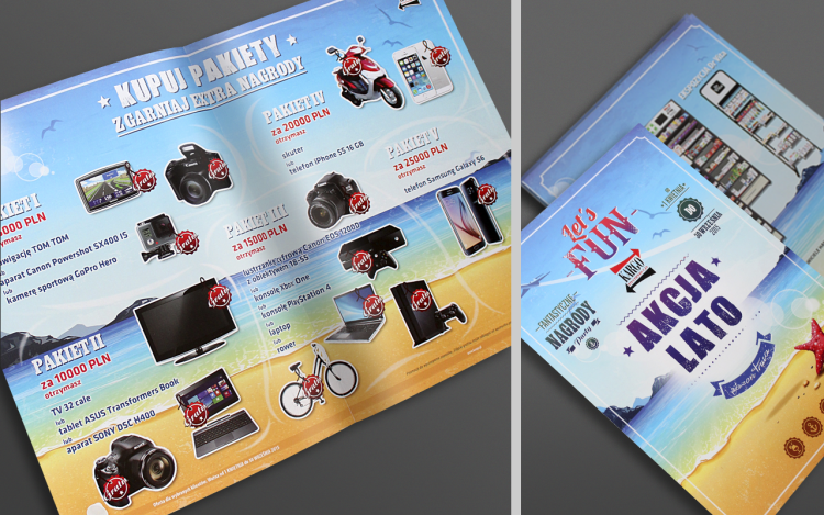 MVIZUAL agencja reklamowa olsztyn ulotki foldery ulotka składana kargo akcja lato 2015