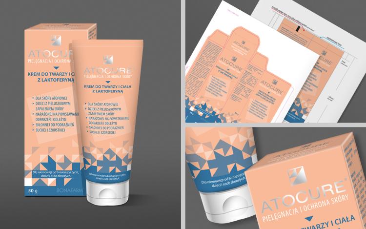 reklama olsztyn MVIZUAL agencja reklamowa olsztyn projekt opakowania etykiety atocure krem