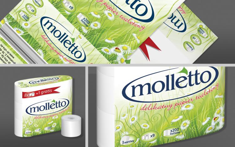 reklama olsztyn MVIZUAL agencja reklamowa olsztyn projekt opakowania etykiety molletto papier toaletowy