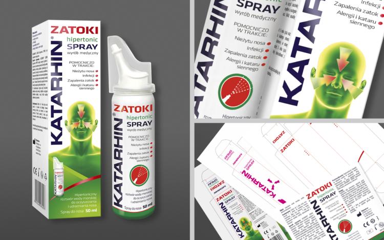 agencja reklamowa olsztyn MVIZUAL reklama projekt opakowania etykiety katarhin zatoki
