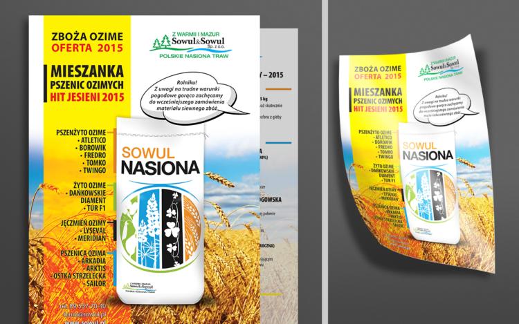 agencja reklamowa olsztyn MVIZUAL reklama ulotki foldery broszury sowul nasiona